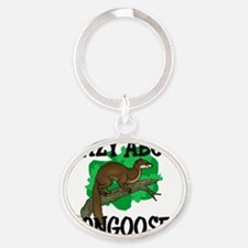 MONGOOSES4229 Oval Keychain