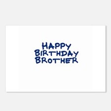 Happy Birthday Brother Postcards (Package of 8)