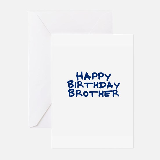 Happy Birthday Brother Greeting Cards (Package of