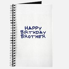 Happy Birthday Brother Journal
