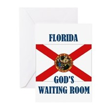 GOD'S WAITING ROOM Greeting Cards (Pk of 10)