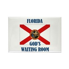GOD'S WAITING ROOM Rectangle Magnet