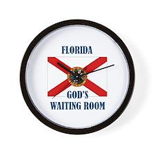 GOD'S WAITING ROOM Wall Clock