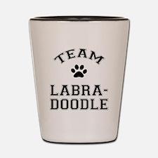 Team Labradoodle Shot Glass