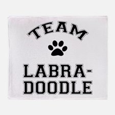 Team Labradoodle Throw Blanket