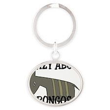 BONGOS98223 Oval Keychain