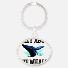 BLUE-WHALES76226 Oval Keychain
