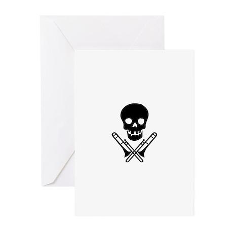 skull & trombones cards (Pk of 10)