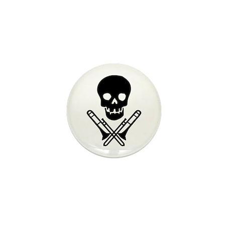 skull & trombones mini button (10 pack)