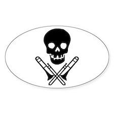 skull & trombones Oval Decal