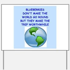 blueberry Yard Sign
