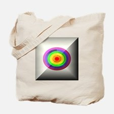 RAINBOW OVAL RINGS BUTTON Tote Bag