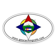 Geocaching Colorado (GCCO) Oval Decal
