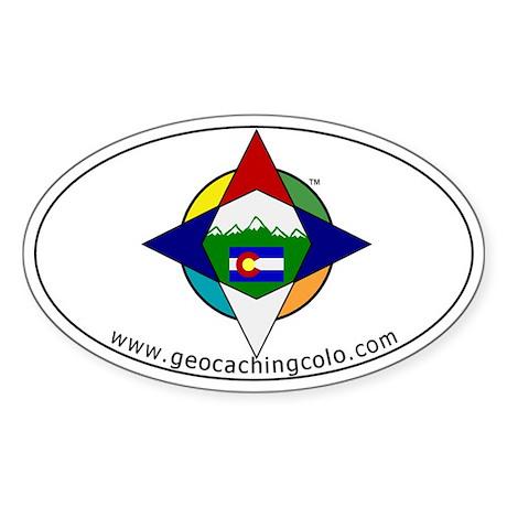 Geocaching Colorado (GCCO) Oval Sticker