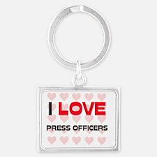 PRESS-OFFICERS145 Landscape Keychain