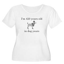 60 birthday dog years poodle Plus Size T-Shirt
