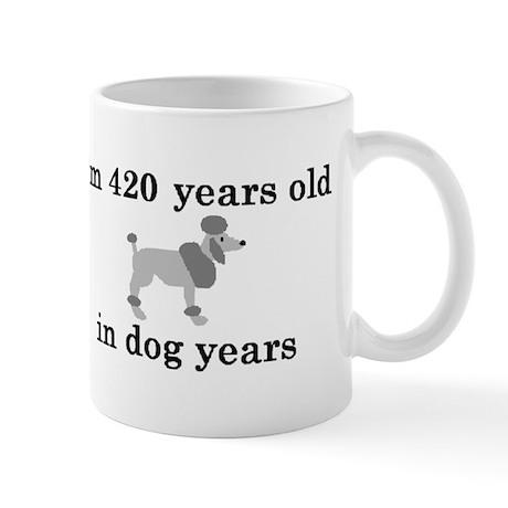 60 birthday dog years poodle 2 Mug