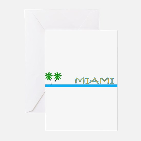 Miami, Florida Greeting Cards (Pk of 10)