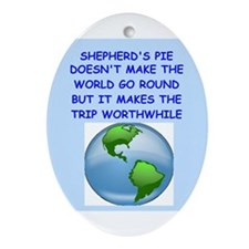 shepherds pie Ornament (Oval)