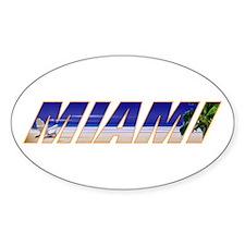 Miami, Florida Oval Decal