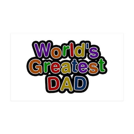 World's Greatest Dad 35x21 Wall Peel Wall Peel