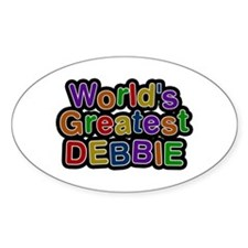 World's Greatest Debbie Oval Decal