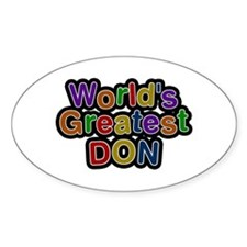 World's Greatest Don Oval Decal