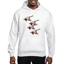 Canada Geese Flying Hoodie