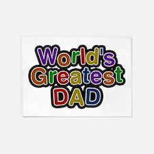 World's Greatest Dad 5'x7' Area Rug