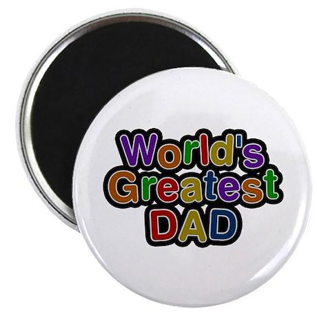 World's Greatest Dad Round Magnet