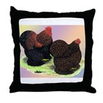 Partridge Cochin Bantams Throw Pillow