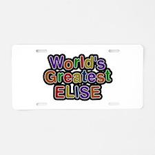 World's Greatest Elise Aluminum License Plate