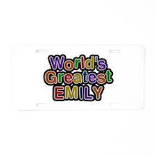 World's Greatest Emily Aluminum License Plate