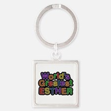 World's Greatest Esther Square Keychain