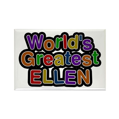 World's Greatest Ellen Rectangle Magnet 10 Pack