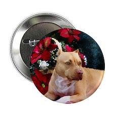 Pit Bull Terrier Christmas V Button