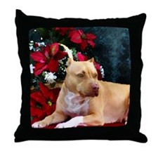Pit Bull Terrier Christmas V Throw Pillow
