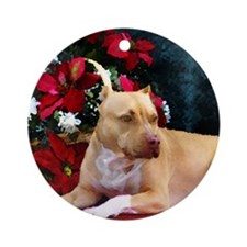 Pit Bull Terrier Christmas V Ornament (Round)