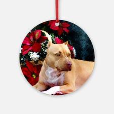 Pit Bull Terrier Christmas V Ornament (Round)