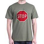 Stop Sign Green T-Shirt