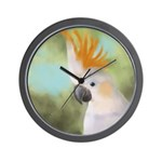 Citron Crested Cockatoo Wall Clock