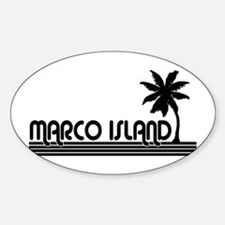 Marco Island, Florida Oval Decal