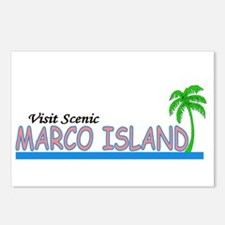 Visit Scenic Marco Island, Fl Postcards (Package o
