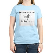 70 birthday dog years poodle T-Shirt