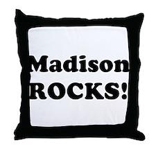 Madison Rocks! Throw Pillow