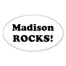 Madison Rocks! Oval Decal