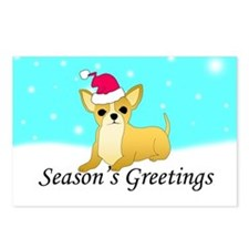 Chihuahua Santa Postcards (Package of 8)