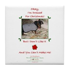 Dressed For Christmas Tile Coaster