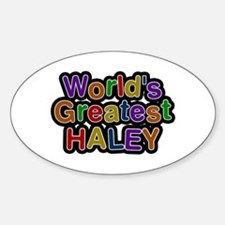 World's Greatest Haley Oval Decal