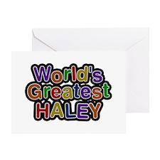 World's Greatest Haley Greeting Card